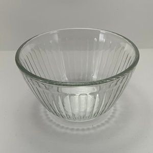 Pyrex Clear Ribbed Glass 3 Cup Bowl-7401-S
